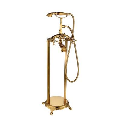 Frittstående badekarbatteri L008 - Gull
