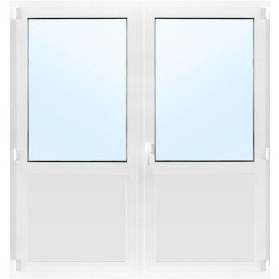 Dobbel balkongdør PVC 3-lags - Innadslående - U-verdi 0,96