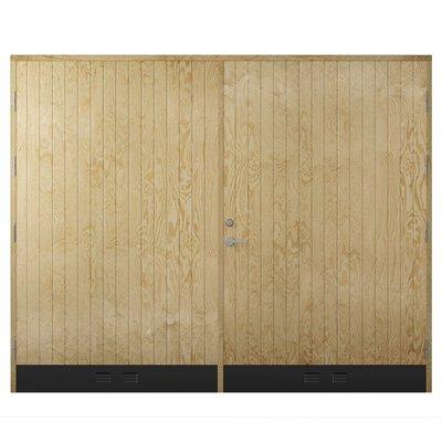 Garasjeport18° Rett Panel