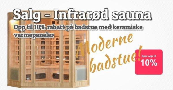 Salg - Infrarød sauna 10%