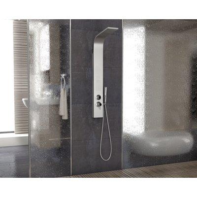 Elektra dusjpanel i rustfritt stål - med sidedusj