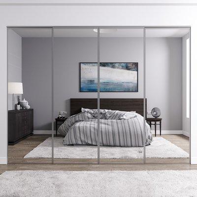 Venedig skyvedør for garderobeskap - 4 Dører - speil