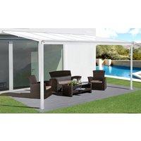 Terrassetak Jim - hvit - 300 x 310 cm