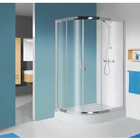Kvadrant TX dusjhjørne med gulv - 5 mm glass (høyre-modul)
