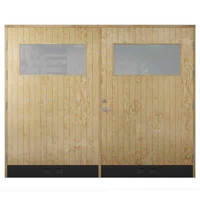 Garasjeport18°, rett panel med vindu