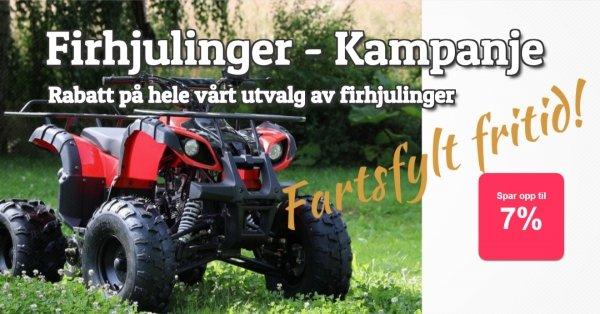 Firhjulinger - 6% rabatt