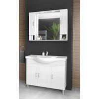 Møbelpakke Alba 100 Hvit med speilskap (2 skap)