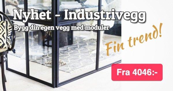 Industrivegg - Bygg din egen vegg i moduler - fra 4046 kr.