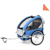Sykkelvogn/joggevogn med støtdempere - Blå