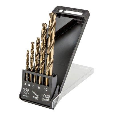 Metalborsett HSS-Co, 4,0 - 10 mm - 5 deler
