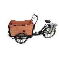 Lastesykkel med brun kasse - 250W
