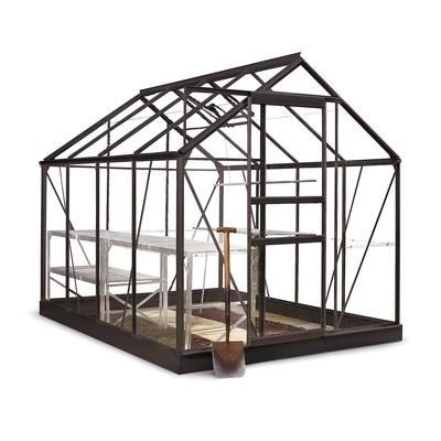 Popular drivhus 5 m² - Svart