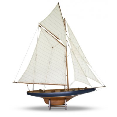 Modellbåt Columbia seilbåt - Mahogny