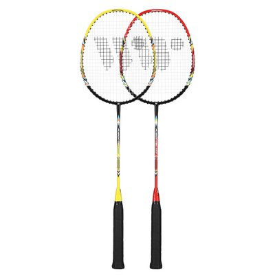 Badmintonsettt med 3 valler (lime, rød & svart) FUSIONTEC 777K