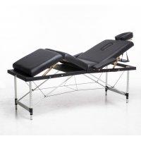 Massasjebord med metallben - 4 soner - Svart
